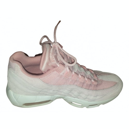 Pre-owned Nike Air Max 95 Pink Cloth Trainers