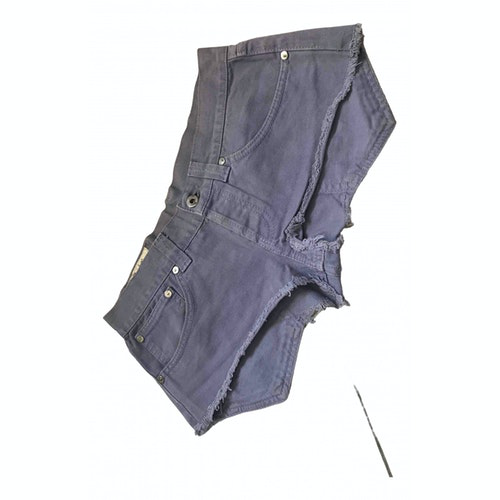 Pre-owned Dondup Purple Cotton Shorts