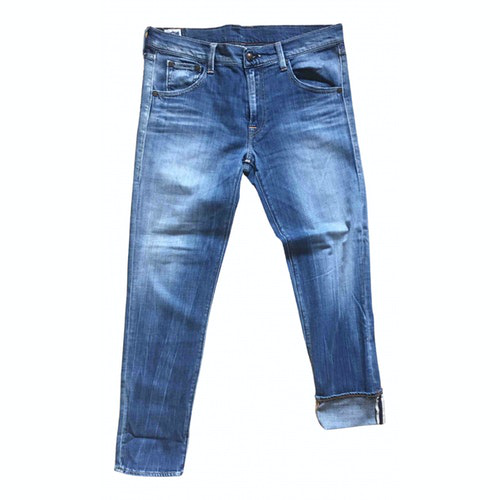 Pre-owned Htc Blue Denim - Jeans Trousers
