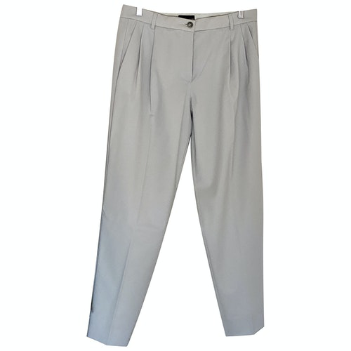 Pre-owned Emporio Armani Grey Wool Trousers