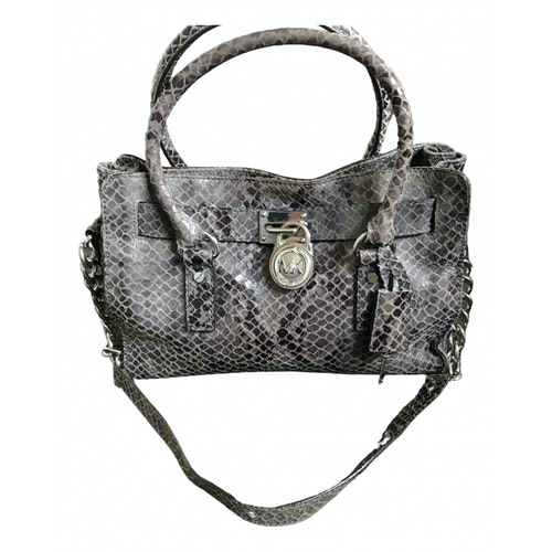 Pre-owned Michael Kors Hamilton Grey Leather Handbag