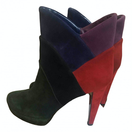 Pre-owned Walter Steiger Multicolour Suede Ankle Boots