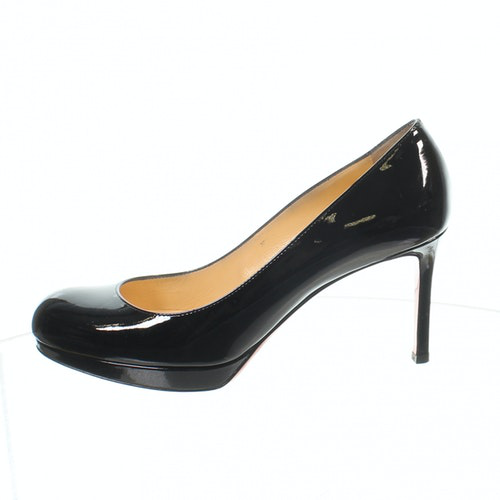 Pre-owned Christian Louboutin Black Patent Leather Heels