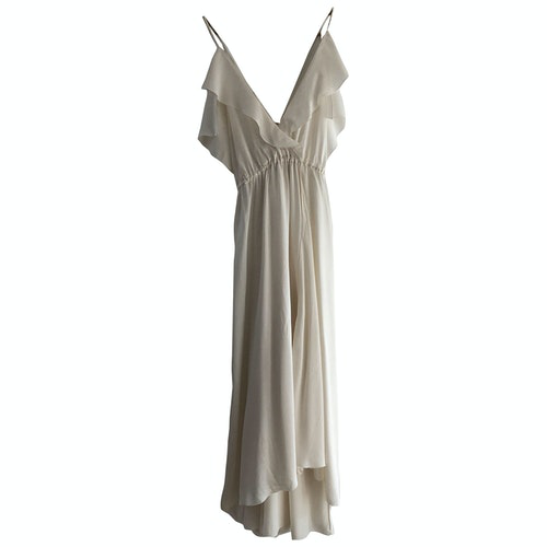 Pre-owned Forte Forte Ecru Silk Dress