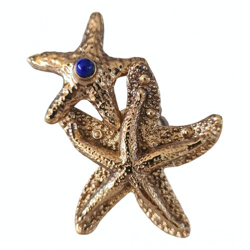Pre-owned Saint Laurent Gold Metal Ring