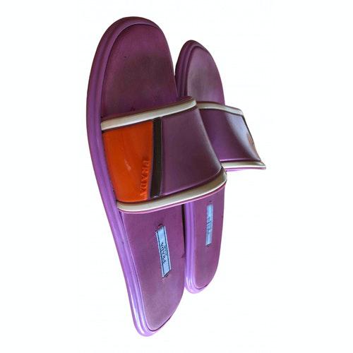 Pre-owned Prada Purple Rubber Sandals