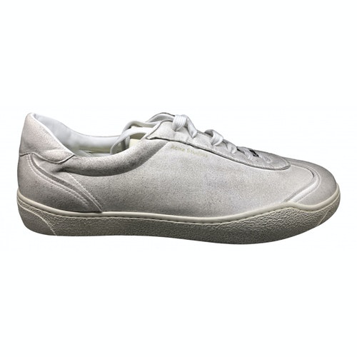 Pre-owned Acne Studios White Suede Trainers