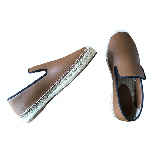 Pre-owned Celine Brown Leather Espadrilles