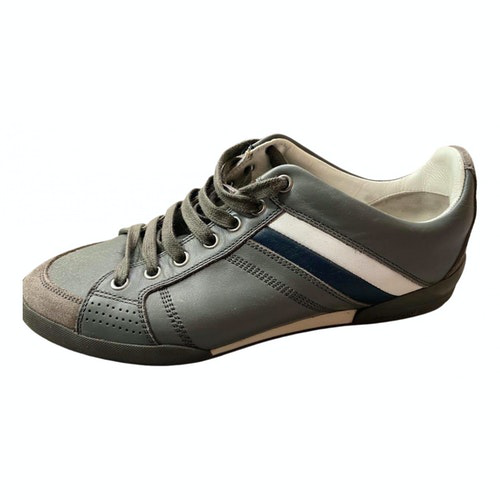 Pre-owned Dior Grey Leather Trainers