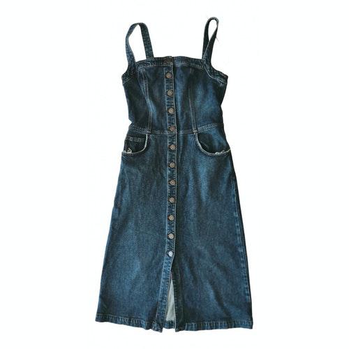 Pre-owned Reformation Blue Denim - Jeans Dress