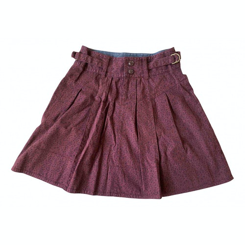 Pre-owned Marc By Marc Jacobs Burgundy Cotton Skirt
