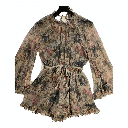 Pre-owned Zimmermann Multicolour Silk Jumpsuit