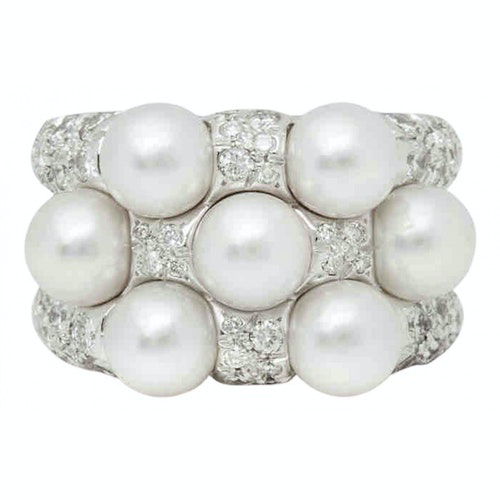 Pre-owned Mikimoto Multicolour White Gold Ring