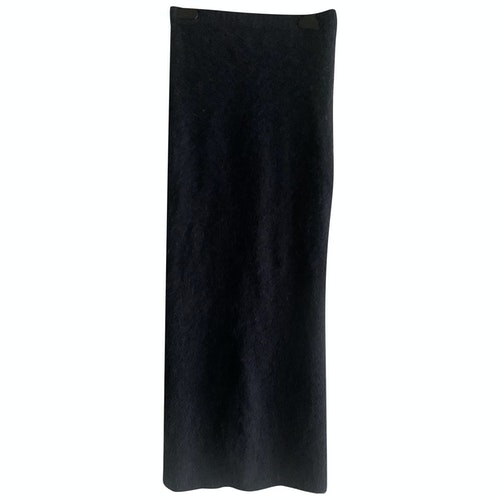 Pre-owned Maje Blue Wool Skirt