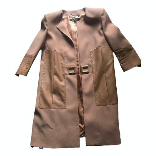 Pre-owned Elisabetta Franchi Pink Coat