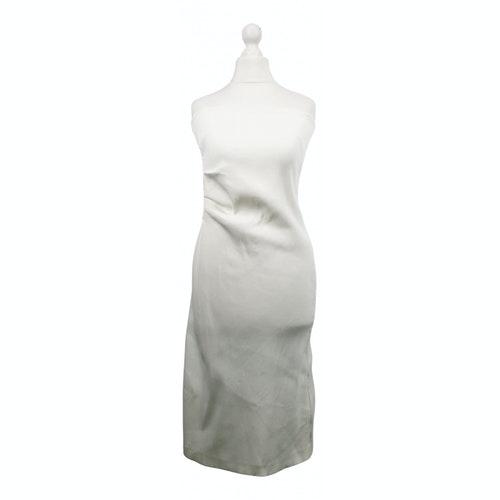 Pre-owned Aspesi White Cotton - Elasthane Dress