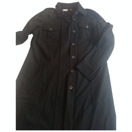 Pre-owned Dkny Black Cotton Dress