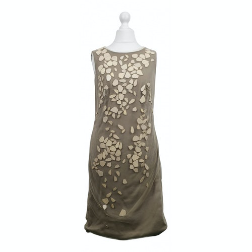 Pre-owned Tadashi Shoji Beige Dress
