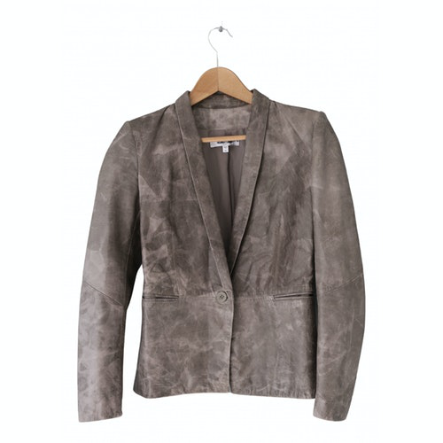 Pre-owned Helmut Lang Grey Leather Jacket