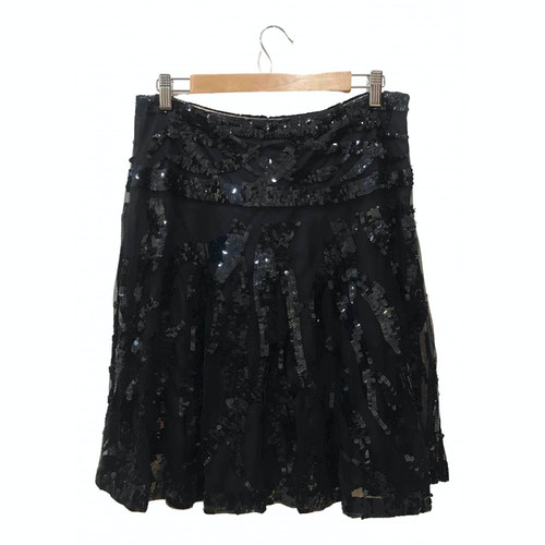 Pre-owned Blumarine Black Glitter Skirt