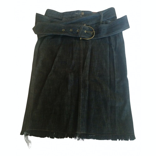 Pre-owned Alexander Mcqueen Navy Denim - Jeans Skirt