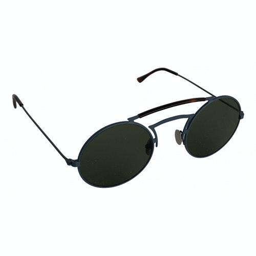 Pre-owned L.g.r Blue Metal Sunglasses