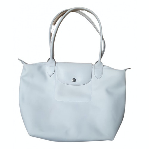 Pre-owned Longchamp Pliage  White Handbag