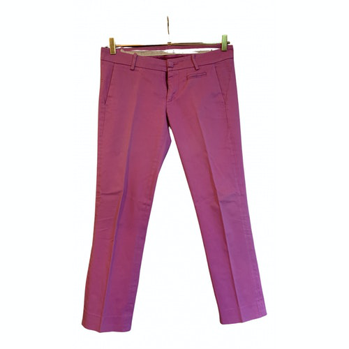 Pre-owned Dondup Pink Cotton Trousers