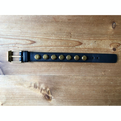 Pre-owned Saint Laurent Black Leather Bracelet