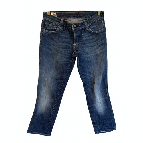 Pre-owned Htc Blue Cotton - Elasthane Jeans