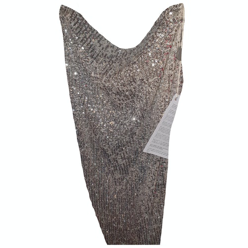 Pre-owned Topshop Tophop  Gold Glitter Dress