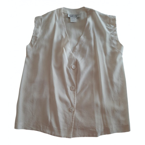 Pre-owned Genny White Silk  Top