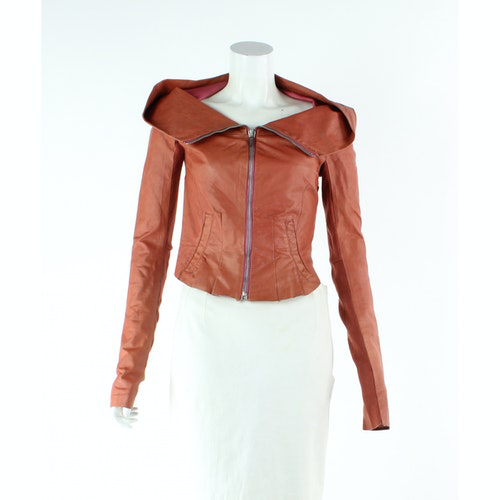 Pre-owned Rick Owens Pink Leather Jacket