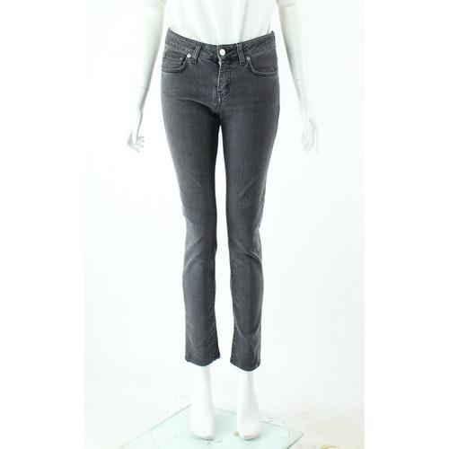 Pre-owned Saint Laurent Grey Cotton Jeans