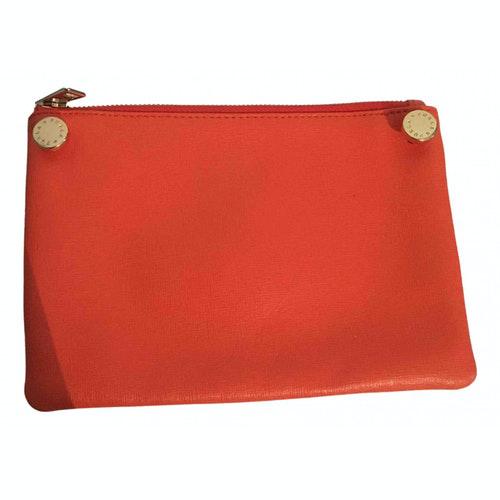 Pre-owned Furla Ecru Leather Clutch Bag