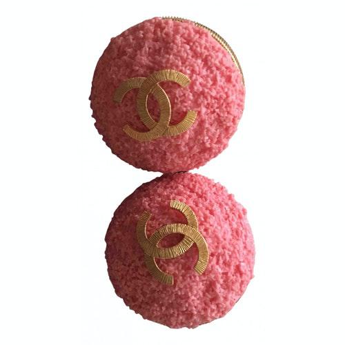 Pre-owned Chanel Pink Metal Earrings