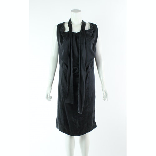 Pre-owned Vivienne Westwood Anglomania Black Silk Dress