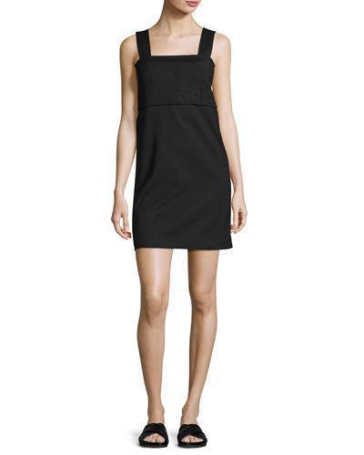 Helmut Lang Sleeveless Bralette Shift Dress, Black