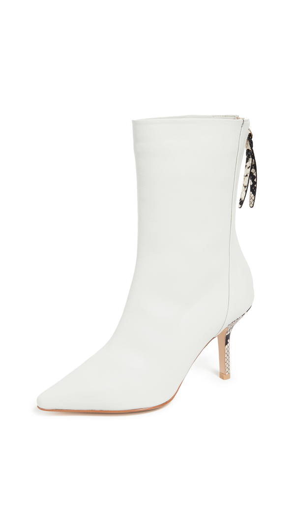 The Volon 80mm Dico Ankle Boots In White