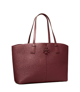 Tory Burch Women's Mcgraw Leather Tote In Claret
