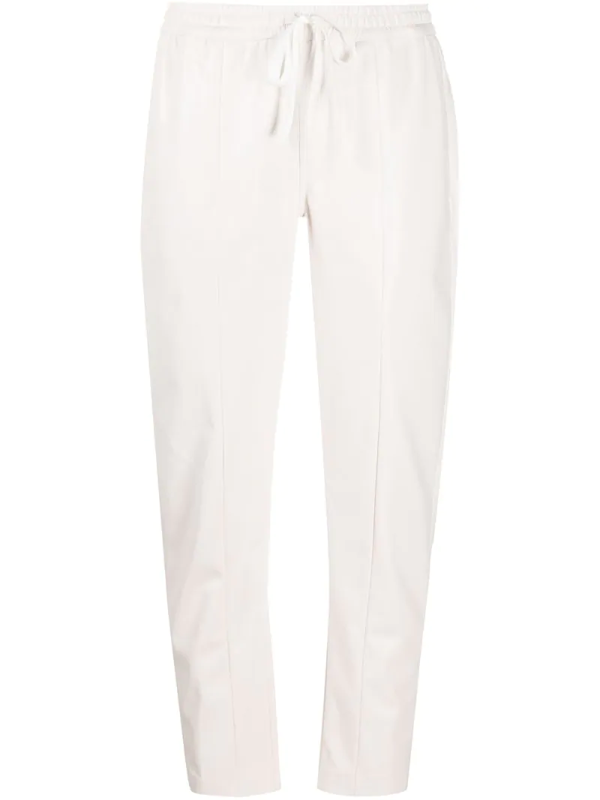 Semicouture Queen Drawstring Trousers In White