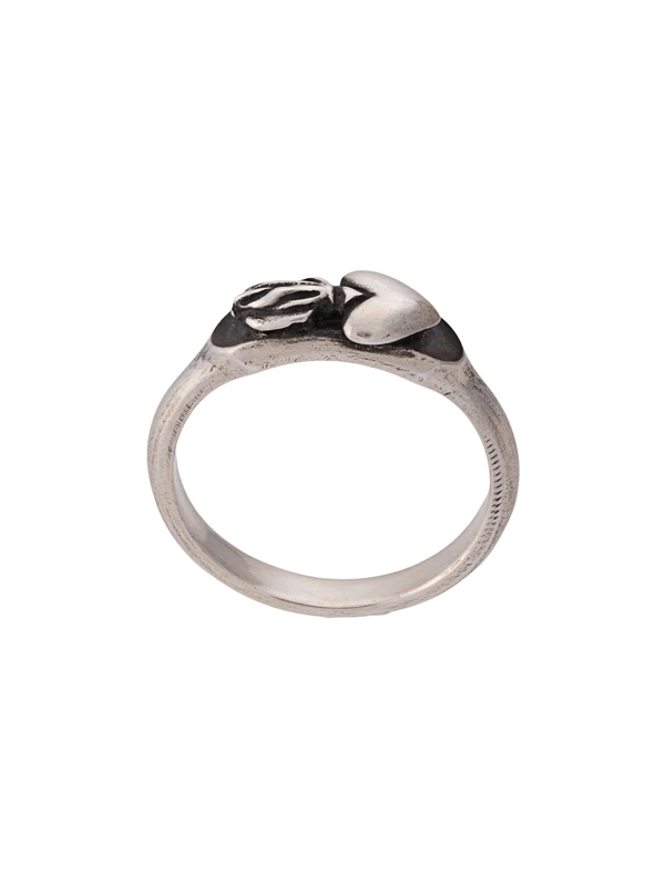 Werkstatt:münchen 'symbol Heart' Ring In Silver