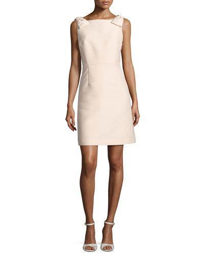Kate Spade Sleeveless Structured A-Line Cocktail Dress, Pale Pink In Pink Pattern