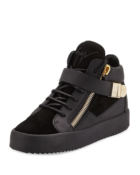 Giuseppe Zanotti May London High-Top Sneaker, Nero