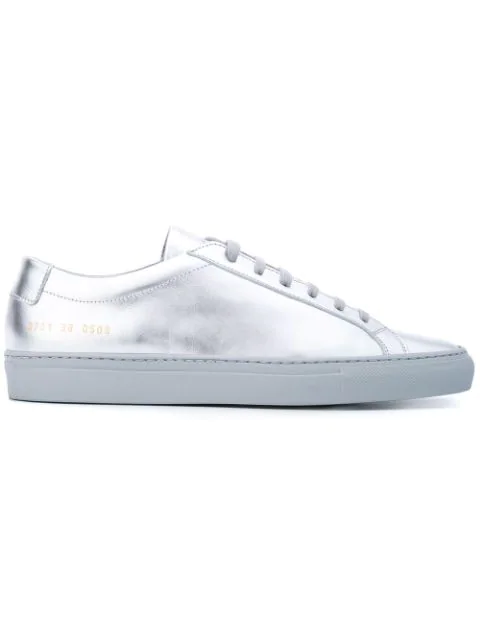 Common Projects Achilles Leather Low-Top Sneaker, Silver In 0509 Silver