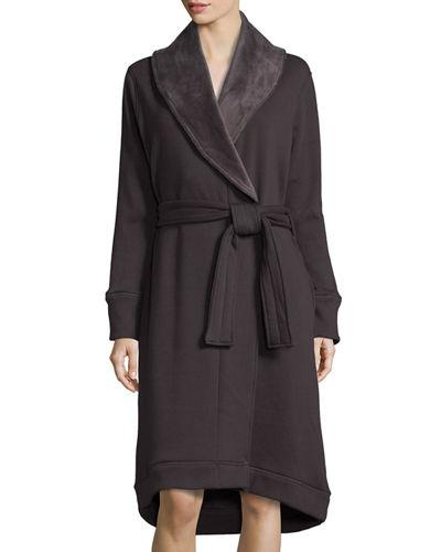 Ugg Duffield Shawl Collar Robe In Charcoal