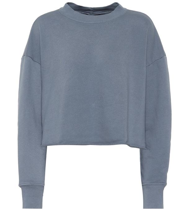 J Brand Wendy Cotton-jersey Sweatshirt In Blue