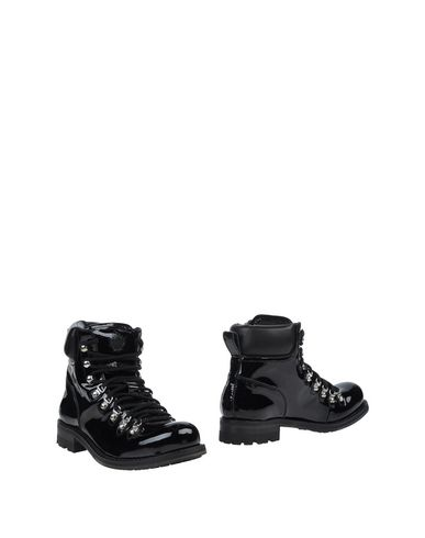 Dsquared2 Canvas & Leather Hiking Boots In Black