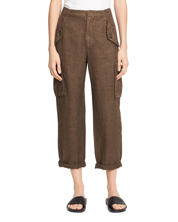 Vince Straight-Leg Utility Pant In Olive
