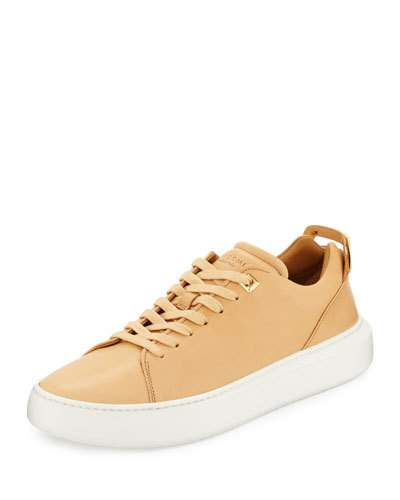 Buscemi Women's 50Mm Leather Low-Top Sneaker, Khaki In Natural